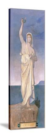 Vigilance, town house of Madame Vignon History-Pierre Puvis de Chavannes-Stretched Canvas Print