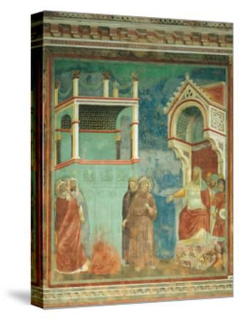 St. Francis before the Sultan-Giotto di Bondone-Stretched Canvas Print