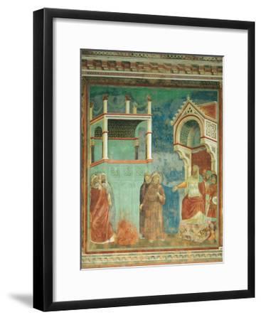 St. Francis before the Sultan-Giotto di Bondone-Framed Art Print