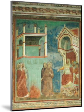 St. Francis before the Sultan-Giotto di Bondone-Mounted Art Print