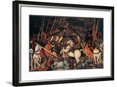 Rout of St. Roman (Battle of St Roman),by Paolo Uccello, c. 1436-1439 . Uffizi Gallery, Florence-Paolo Uccello-Framed Art Print