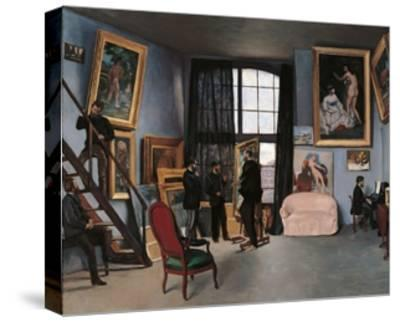 Artists Studio, Rue de la Condamine-Frederic Bazille-Stretched Canvas Print