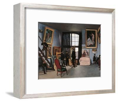 Artists Studio, Rue de la Condamine-Frederic Bazille-Framed Premium Giclee Print