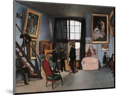 Artists Studio, Rue de la Condamine-Frederic Bazille-Mounted Premium Giclee Print