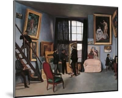 Artists Studio, Rue de la Condamine-Frederic Bazille-Mounted Art Print