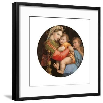 Madonna of the Chair-Raphael-Framed Art Print