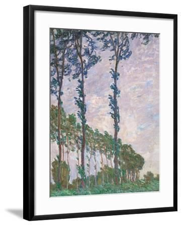 Wind Effect, Series of Poplars-Claude Monet-Framed Art Print