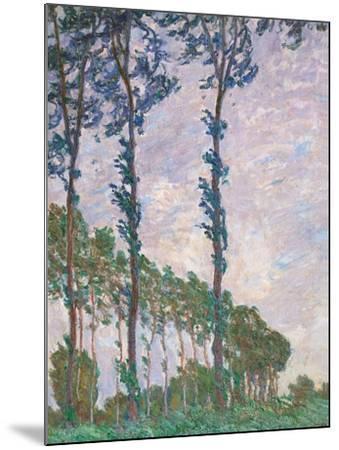 Wind Effect, Series of Poplars-Claude Monet-Mounted Art Print