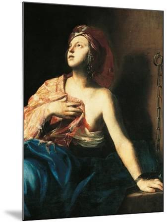 St. Agatha in Prison-Massimo Stanzione-Mounted Art Print