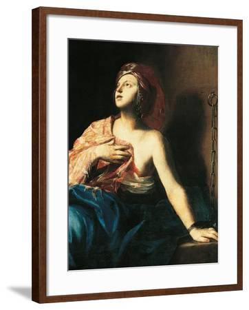 St. Agatha in Prison-Massimo Stanzione-Framed Art Print
