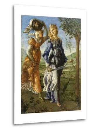 Return of Judith from the Field of Holofernes by Botticelli, c. 1472-73. Uffizi Gallery, Florence-Sandro Botticelli-Metal Print