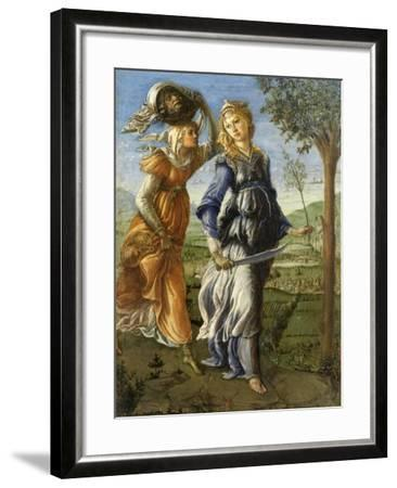 Return of Judith from the Field of Holofernes by Botticelli, c. 1472-73. Uffizi Gallery, Florence-Sandro Botticelli-Framed Art Print