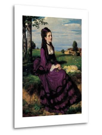 Portrait of a Woman in Lilac-Pal Szinyei Merse-Metal Print