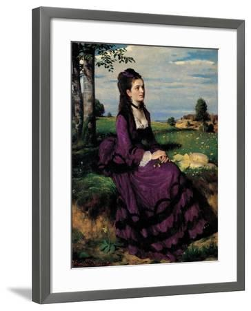 Portrait of a Woman in Lilac-Pal Szinyei Merse-Framed Art Print
