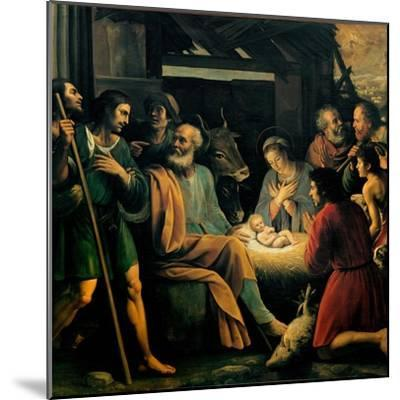 Nativity and the Adoration of the Shepherds-Giuseppe Vermiglio-Mounted Art Print