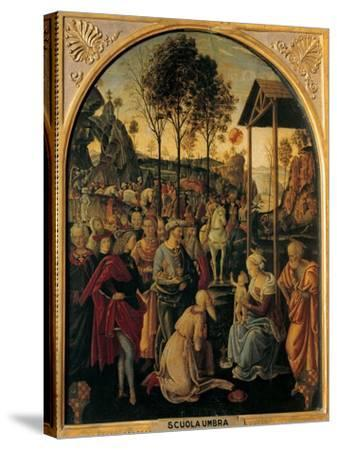 Adoration of the Magi, Unknown Umbrian Artist, c. 1490. Palazzo Pitti, Florence, Italy- Umbrian Artist-Stretched Canvas Print