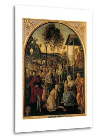 Adoration of the Magi, Unknown Umbrian Artist, c. 1490. Palazzo Pitti, Florence, Italy- Umbrian Artist-Metal Print