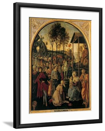 Adoration of the Magi, Unknown Umbrian Artist, c. 1490. Palazzo Pitti, Florence, Italy- Umbrian Artist-Framed Art Print