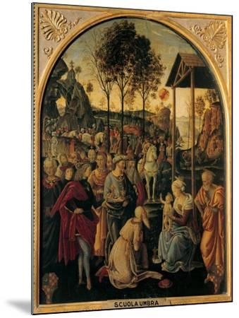 Adoration of the Magi, Unknown Umbrian Artist, c. 1490. Palazzo Pitti, Florence, Italy- Umbrian Artist-Mounted Art Print