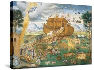 Animals Enter Noah's Ark-Aurelio Luini-Stretched Canvas Print