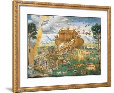 Animals Enter Noah's Ark-Aurelio Luini-Framed Art Print