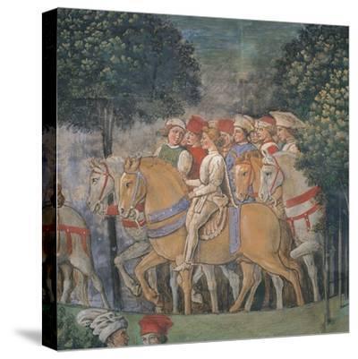 Journey of the Magi-Benozzo Gozzoli-Stretched Canvas Print
