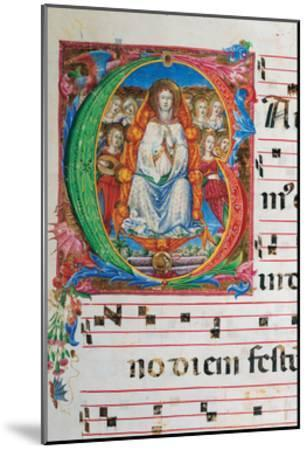 Choral part of the Mass, illuminated manuscript, 15th c. Osservanza Basilica, Siena, Italy--Mounted Art Print