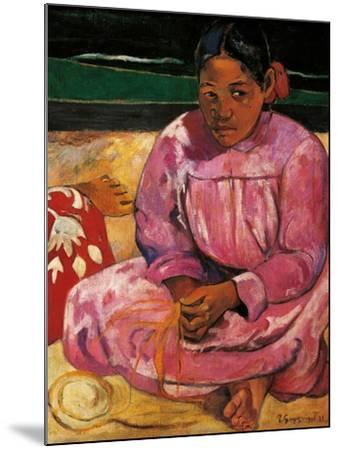 Tahitian Women-Paul Gauguin-Mounted Art Print