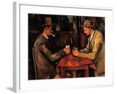 Card Players-Paul C?zanne-Framed Art Print