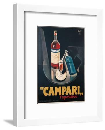 474e434aaea0 Poster Advertising Campari l aperitivo Art Print by Marcello Nizzoli ...