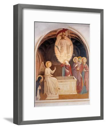 Christ Resurrected or The Message of the Angel-Beato Angelico-Framed Art Print