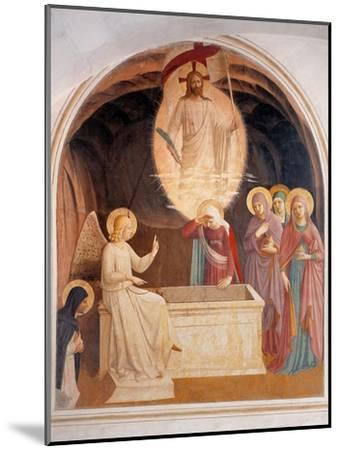 Christ Resurrected or The Message of the Angel-Beato Angelico-Mounted Art Print