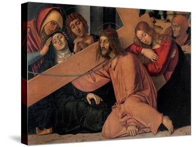 Christ Fell under the Cross-Francesco Bonsignori-Stretched Canvas Print