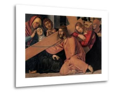 Christ Fell under the Cross-Francesco Bonsignori-Metal Print