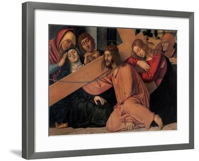 Christ Fell under the Cross-Francesco Bonsignori-Framed Art Print