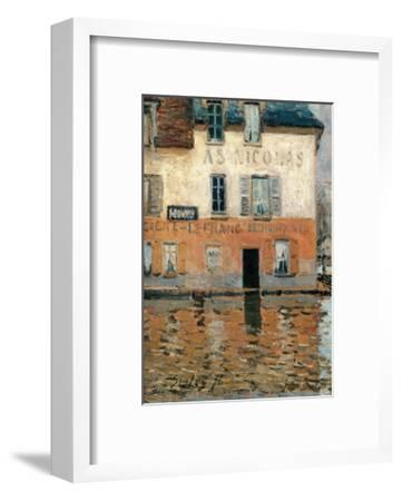 Flood at Port Marly-Alfred Sisley-Framed Art Print