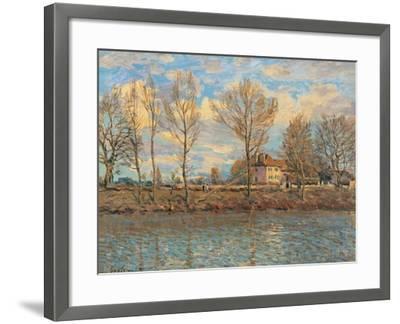 Island of La Grande Jatte, Neuilly sur Seine-Alfred Sisley-Framed Art Print
