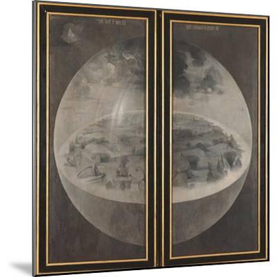 Garden of Earthly Delights, Creation of the World-Hieronymus Bosch-Mounted Art Print