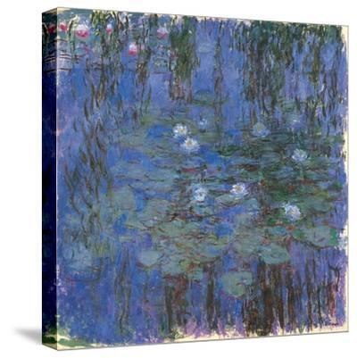 Blue Water Lilies-Claude Monet-Stretched Canvas Print