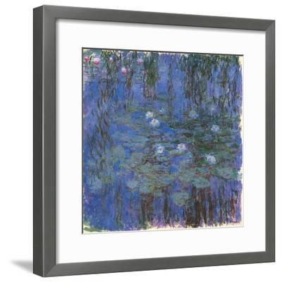 Blue Water Lilies-Claude Monet-Framed Art Print