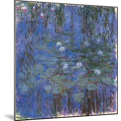 Blue Water Lilies-Claude Monet-Mounted Art Print