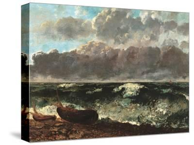 Stormy Sea, (The Wave)-Gustave Courbet-Stretched Canvas Print