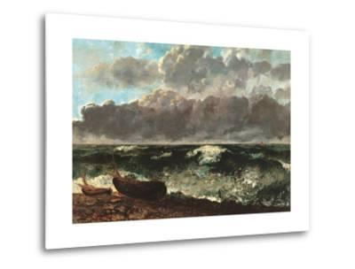 Stormy Sea, (The Wave)-Gustave Courbet-Metal Print