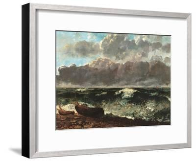 Stormy Sea, (The Wave)-Gustave Courbet-Framed Art Print