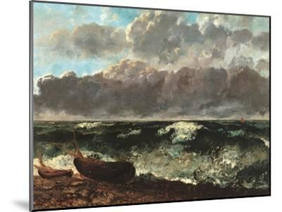 Stormy Sea, (The Wave)-Gustave Courbet-Mounted Art Print