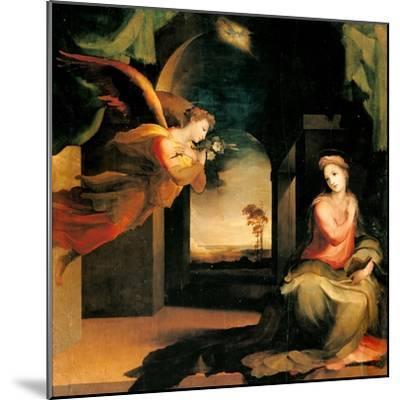 Annunciation-Domenico Beccafumi-Mounted Art Print