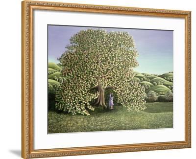 Chestnut Tree and Lovers, 1986-Liz Wright-Framed Giclee Print