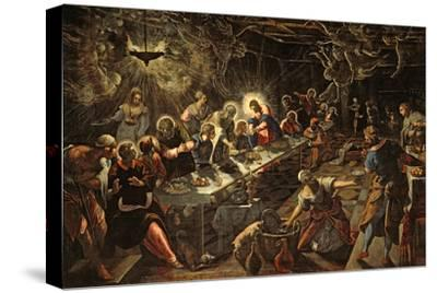 The Last Supper, 1594-Jacopo Robusti Tintoretto-Stretched Canvas Print