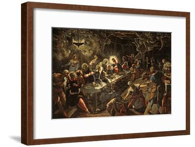 The Last Supper, 1594-Jacopo Robusti Tintoretto-Framed Giclee Print