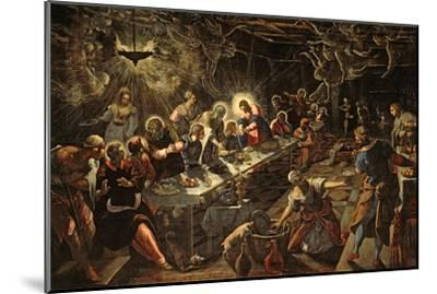 The Last Supper, 1594-Jacopo Robusti Tintoretto-Mounted Giclee Print